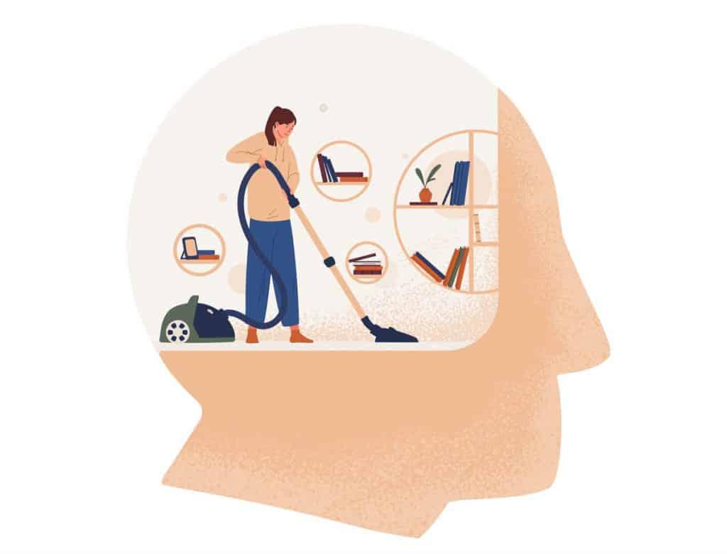 cleaning inside head